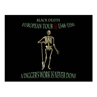 Black Death World Tour Original Design Postcard