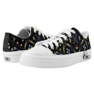 Black Decorative Abstract Design Shoes