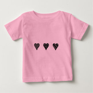 Black Decorative Hearts T Shirt