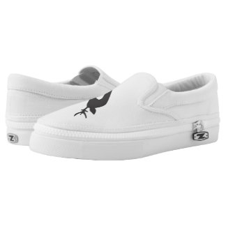black deer white Zip Slip On Shoes for women