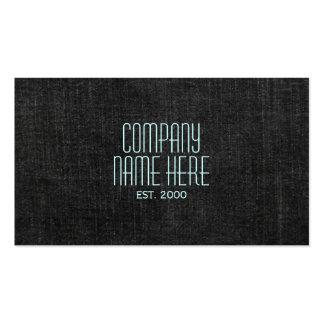 Black Denim Pack Of Standard Business Cards