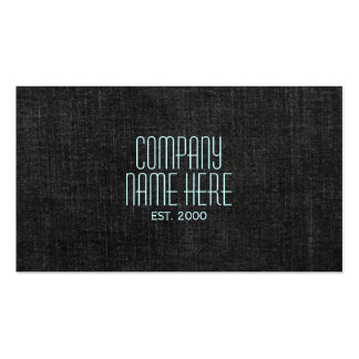 Black Denim Business Card