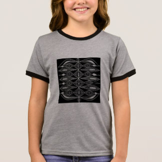 Black Design Ringer T-Shirt