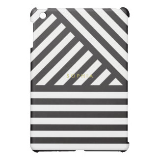 Black Diagonal Stripe iPad Mini Case