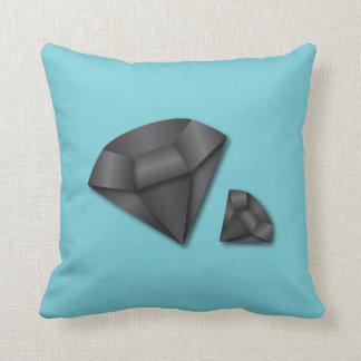 Black Diamond Custom Color Throw Pillow