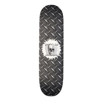 Black Diamond Plate Look Skateboard