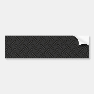 Black Diamond Plate Patterned Bumper Sticker
