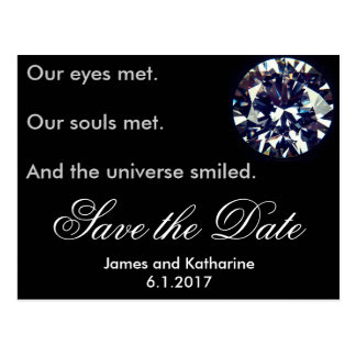Black diamond save the date card