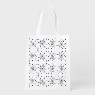 Black Diamond Swirl Bag Grocery Bag