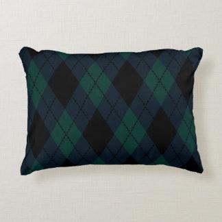 Black Diamond Tartan Pillow