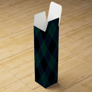Black Diamond Tartan Wine Gift Box