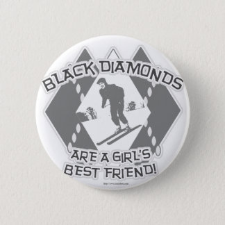 Black Diamonds 2 Inch Round Button