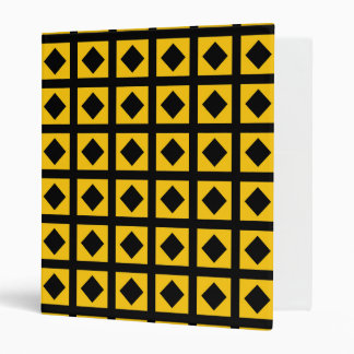 Black Diamonds and Gold Squares Binder