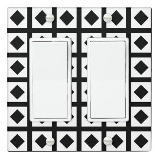 Black Diamonds and White Squares Light Switch Cover