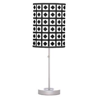 Black Diamonds and White Squares Table Lamp
