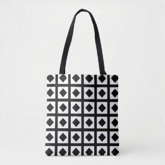 Black Diamonds and White Squares Tote Bag