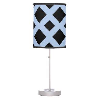 Black Diamonds on Light Blue Table Lamp