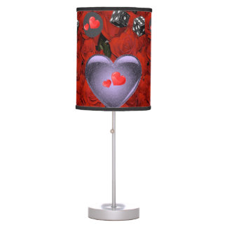 black dice gray heart lamp shade