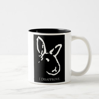 Black Disapproving Rabbits Mug