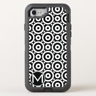 Black Disc Monogram OtterBox Defender iPhone 7 Case
