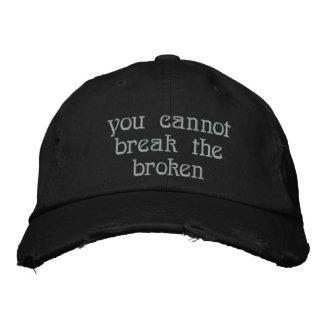 Black distressed cap