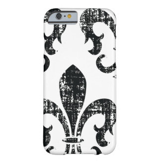 Black distressed fleurdelis stylish iPhone 6 case