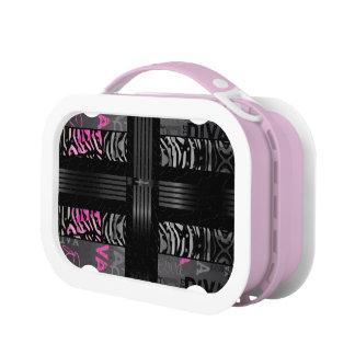 Black Diva Pink Zebra Lunchbox