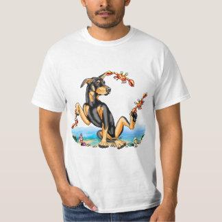 Black Doberman Pinscher Kinda Crabby Tee Shirts