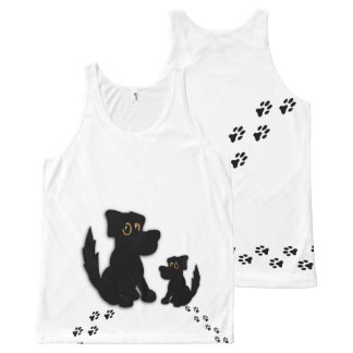 Black Dog Family All-Over-Print Tank Top