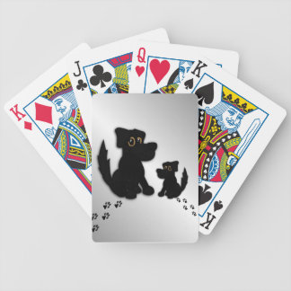 Black Dog Family Bicycle Playing Cards