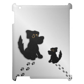 Black Dog Family Case For The iPad 2 3 4