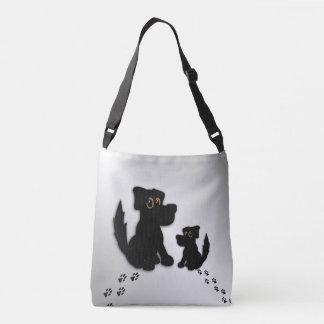Black Dog Family Crossbody Bag