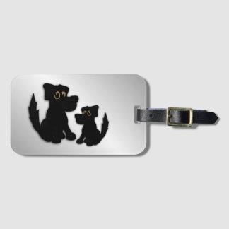Black Dog Family Luggage Tag