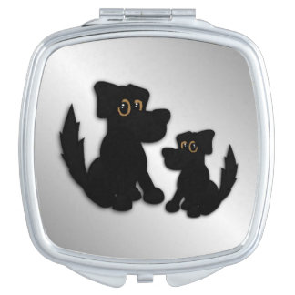Black Dog Family Mirror For Makeup