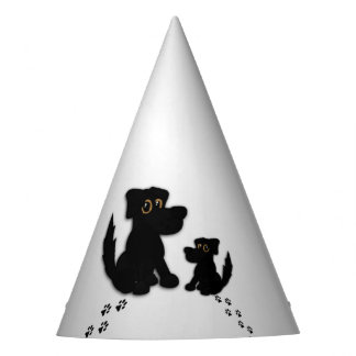 Black Dog Family Party Hat