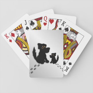 Black Dog Family Playing Cards