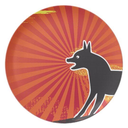 Black Dog Plate