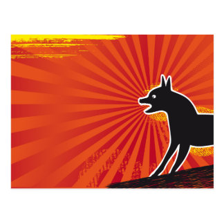 Black Dog Postcard