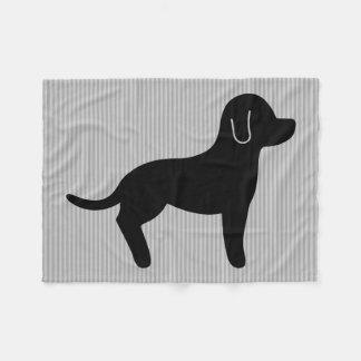 Black Dog Silhouette Fleece Blanket