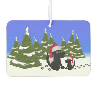 Black Dogs Christmas Air Freshener