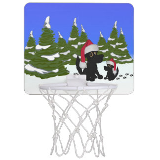 Black Dogs Christmas Mini Basketball Hoop