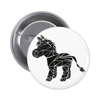 Black donkey 2 inch round button