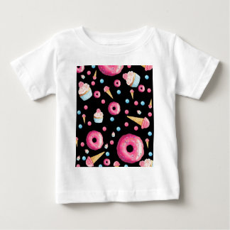 Black Donut Collage Baby T-Shirt