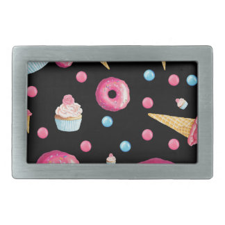 Black Donut Collage Belt Buckle