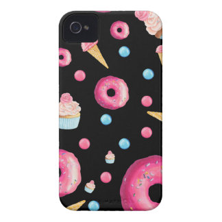 Black Donut Collage Case-Mate iPhone 4 Case
