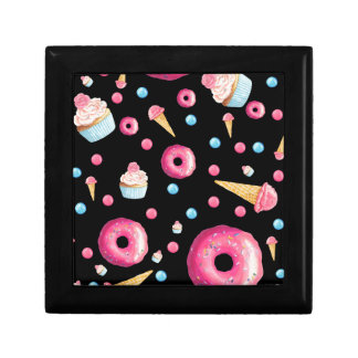 Black Donut Collage Gift Box
