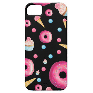 Black Donut Collage iPhone 5 Case