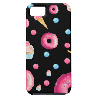 Black Donut Collage iPhone 5 Cover