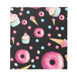 Black Donut Collage Notepad