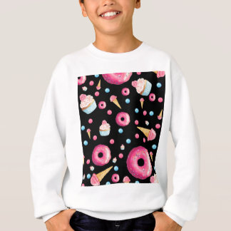 Black Donut Collage Sweatshirt